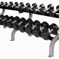 USA Troy TSDR 12-Sided Rubber Dumbells (5-125lbs)