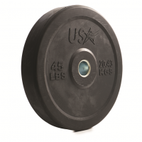 USA Troy Solid Rubber Bumper Plate (10-45lbs)
