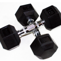 USA Troy HDR Rubber Hex Dumbbells (3-100lbs)